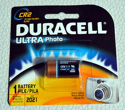 CR2 Lithium Battery Duracell Ultra Power Photo Batteries.Exp:2021 (#bte96)