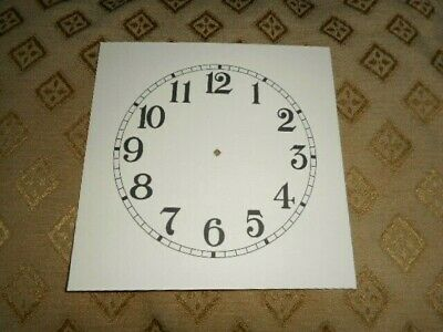 "Mantle/ Shalf Paper Clock Dial- 4 1/2"" M/T- Arabic-MATT CREAM- Part/Spares"