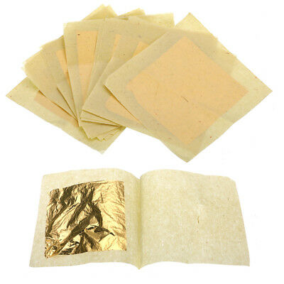 10 Pcs 24K Leaf Foil Golden Gilding Handicrafts Face  Cake Decoration Beauty