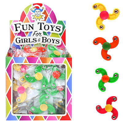 HENBRANDT 12 x Mini Finger Spinners Kids Party Bag Fillers Pinata Toys Assorted Colours