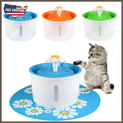 1.6L Pet Water Fountain For Cat Dog Automatic Water Drinking Bowl Dish Dispense