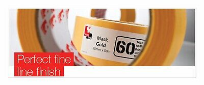 48 Rolls Scapa Mask Gold 19mmx50m FINE LINE Perfect Edge MASKING TAPE job Lot