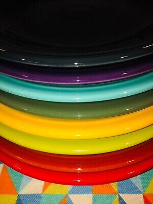 "Fiesta ~New Colors ~ Bright Mixed Set 8 Fiestaware Brand New 10.5"" Dinner Plates"