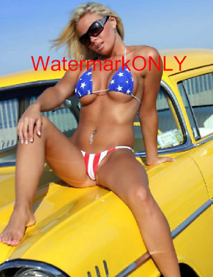 """SUPER """"Smok'in"""" HOT Car Babe Model """"Pin-UP"""" PHOTO! #(77)"""