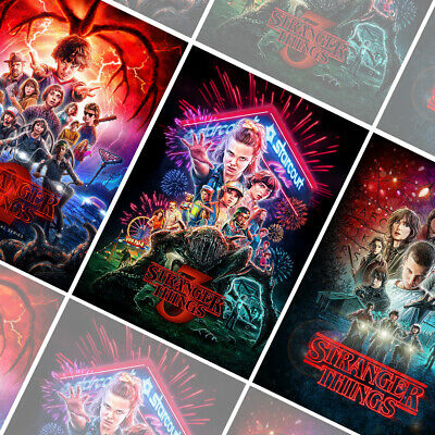 STRANGER THINGS Season 1 2 3 Posters Bundle - 3x Prints - A4 A3 A2