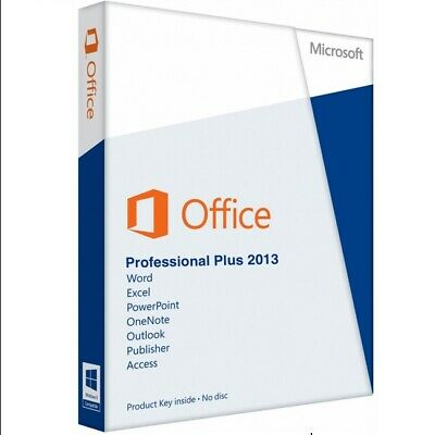 Microsoft MS Office 2013 PRO Plus Key Professional Software Lizenz Download Neu