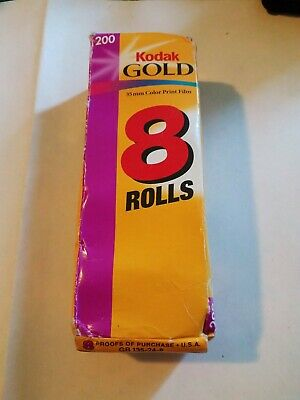 Kodak Gold 200 Speed Color 35mm Film 4 Rolls Of 24 Exposures Each Factory Sealed