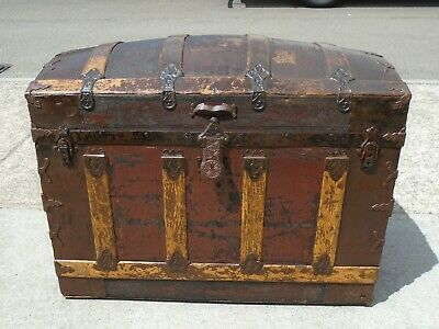 Antique Dome Top Trunk / Chest  Delivery Available