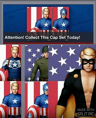 Topps Marvel Collect Card Trader Captain America Roll Call Attention Set  July 4