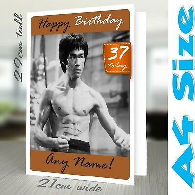 BRUCE LEE PERSONALISED Birthday Card | Enter The Dragon Kung Fu