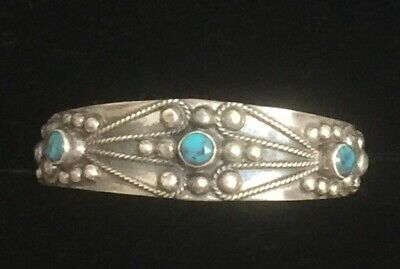 antique Mexican Sterling Silver Crown Hallmark Mexico Childs Bracelet Pre Eagle