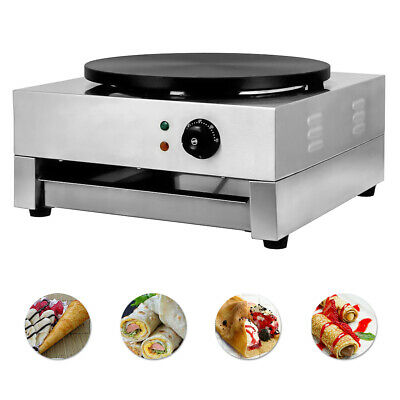 "NEW 16"" Commercial Electric Crepe Maker Pancake Machine Single Hotplate 110V"