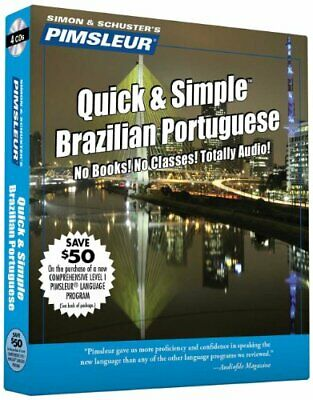 NEW - Quick & Simple Brazilian/Portuguese by Paul Pimsleur