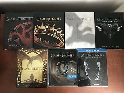 Game of Thrones Complete Collection 1-7 Seasons Blu Ray Like New!