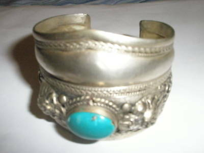 Antique Tibetan Silver Dragons Bangle, Christmas Birthday Gift for Grand Parent