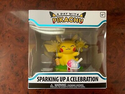 A Day With Pikachu Sparkling Up A Celebration In Hand