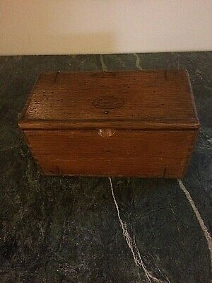 Antique Wood puzzle Sewing attachment Box