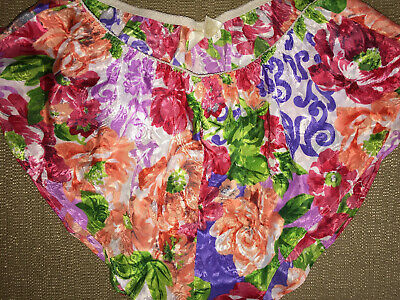 M 30-32 Vtg Victorias Secret Floral Satin Fem Boy Tap Shorts Panties Briefs NWOT