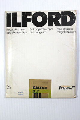 Ilford Galerie 8 x 10 Matt Double Weight 25 sheets 3.5 K  Photo Paper Unopened