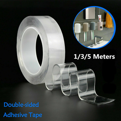 Double-Side Nano Adhesive Grip Tape Traceless Washable Transparent Gel Tape Roll