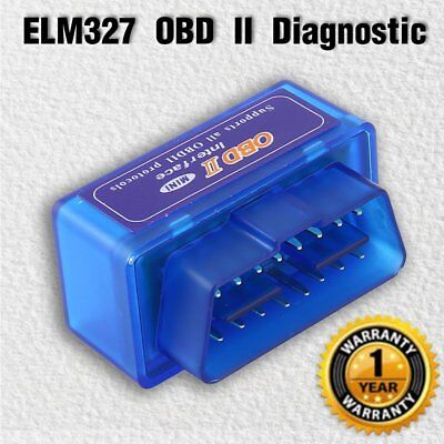 Mini ELM327 OBD2 II Bluetooth BT Diagnostic Car Code Readers Scanner Tool Rr