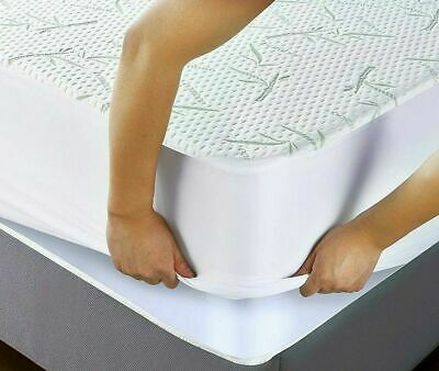 Mattress Protector Waterproof Bamboo Soft Hypoallergenic Fitted Pad Cover USA
