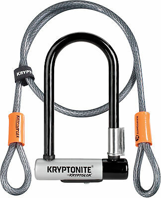 Kryptonite Bike Lock Kryptolok Mini 7 with Flex Cable & Flexframe Bracket