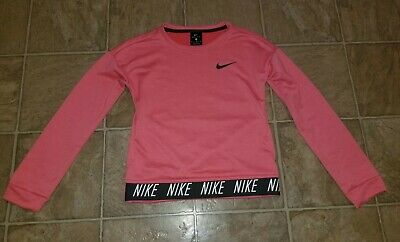 ef8a4fc11a240 NEW GIRLS NIKE Long Sleeve T Shirt Active Graphic Tee Size 6 Hyper ...