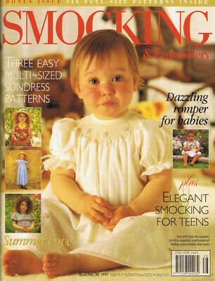 Australian Smocking & Embroidery Magazine issue 38 pattern sheets attached
