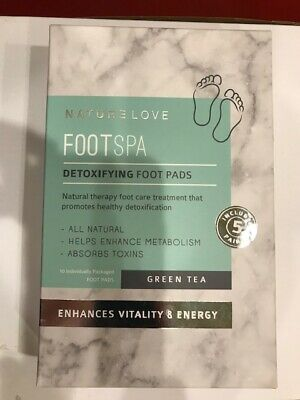 NATURE LOVE | FootSpa - Detoxifying Foot Pads - Green Tea DeTox