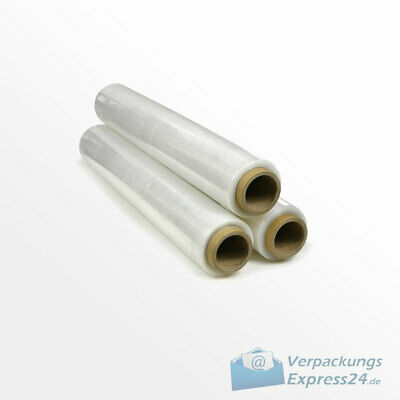 1 Rolle PE Stretchfolie Palettenfolie Wickelfolie 500mm x 300m Transparent 23my