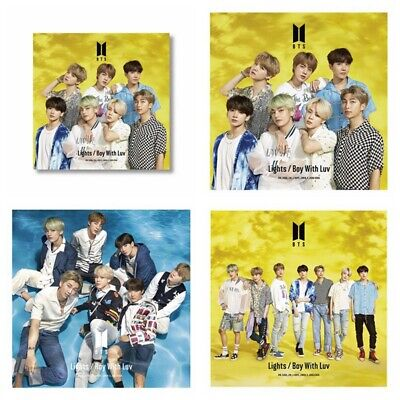 Kpop BTS Japanese Album Lights/Boy with Luv Wall Poster Group Hanging Photo