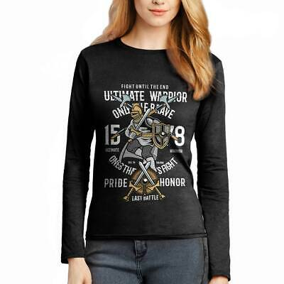 Ultimate Warrior Armor Sword Steel Plate King Medieval Anc Womens T-Shirt C465LS