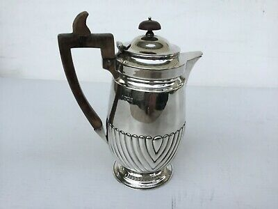 Anitque solid sterling silver English hallmarked coffee or tea pourer pot