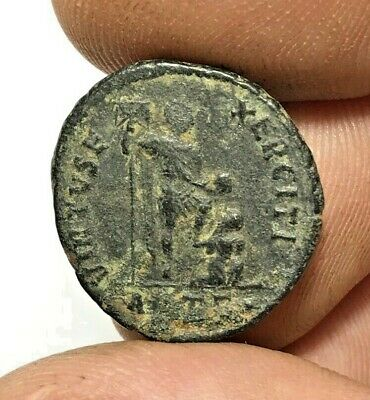 ANCIENT ROMAN BRONZE COIN VALENTINIANUS LARGE  4.6gr 23.1mm
