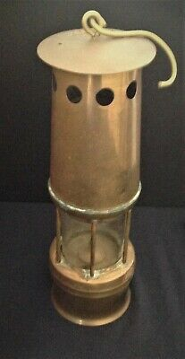 Antique Copper Brass Miners Lamp