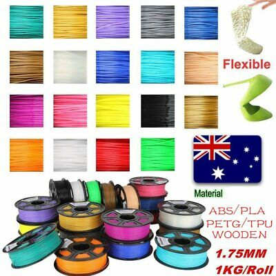 3D Printer Filament 1.75mm PLA ABS PC PETG TPU 1KG Colours Engineer Drawing i0