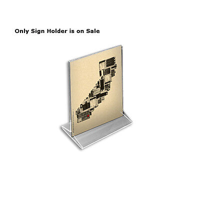 Acrylic Clear 2 Sided Top Load Sign Holder 5.5W x 7H Inches - Box of 10