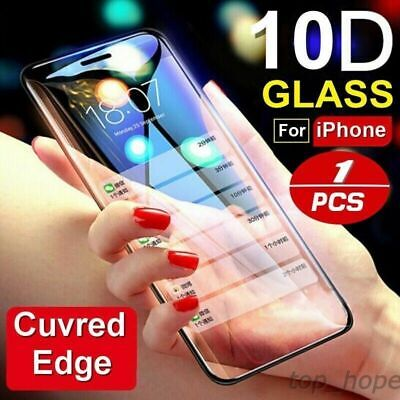 For IPhone X XS MAX XR 8 7/6 10D Full Cover Real Tempered Glass Screen Protector