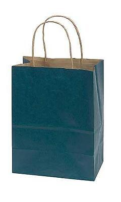 Navy Blue Paper Medium Shopping Bag 8 x 4 ½x 10 ¼ Inches� - Count of 100