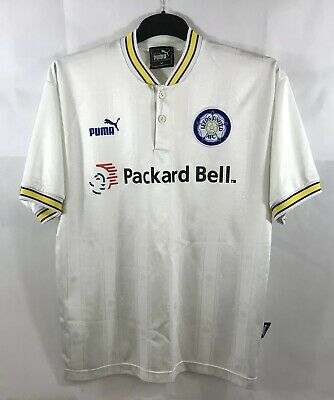 Leeds United Home Football Shirt 1996/98 Adults Medium Puma B39