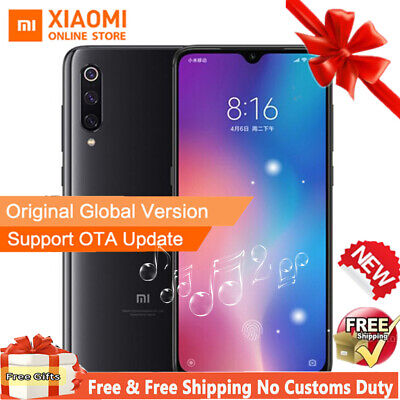 Nero Original Xiaomi 9 6GB+64GB 4G Cellulare Snapdragon 855 3200mAh 48MP 6.39""