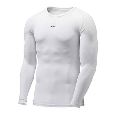 79a5820b0 adidas Techfit Mens Long Sleeve Compression Baselayer Shirt White - XXL