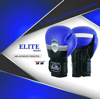 Boxing Gloves Adult Sparring Training Kick Boxing Muay Thai 10-16oz Blue Crown