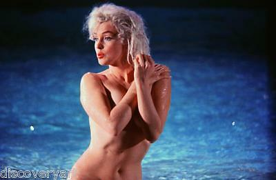 Marilyn Monroe Naked in the Pool Portrait Canvas Wall Art Movie Poster Print