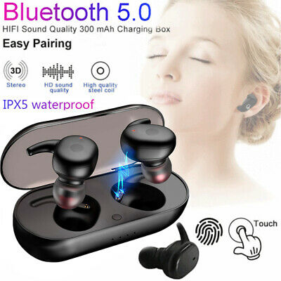 5.0V Mini TWS Twins True Wireless Bluetooth In-Ear Earphones Headset Earbuds