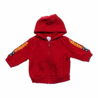 Gymboree Baby Boys Adorable Hoodie, size 6 mo,  red,  cotton, polyester