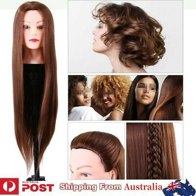 Salon 24'' Long Hair Hairdressing Practice Doll Head Training Mannequin W/Clamp