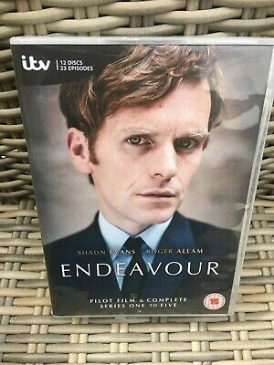 Endeavour DVD complete series 1-5 and Pilot film.