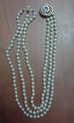 buy online pretty nice special sales COLLANA VINTAGE PERLE 3 fili lunga - EUR 30,00 | PicClick IT